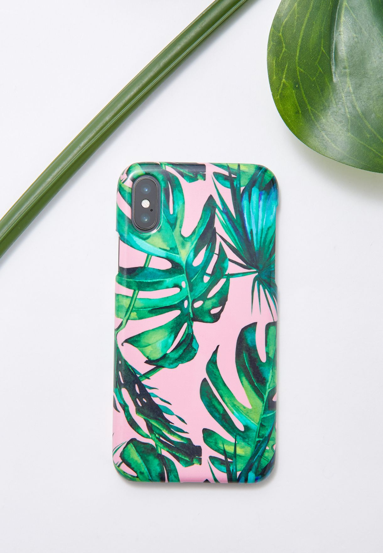 Pink Tropical iPhone X Phone Case
