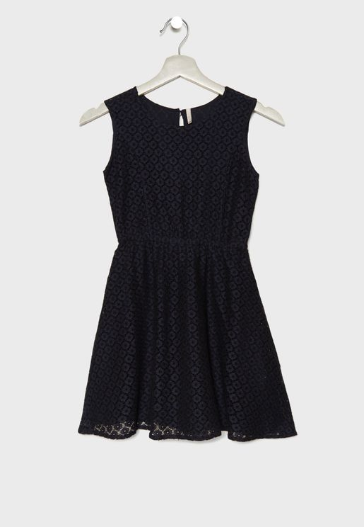Kids Lace Detail Dress
