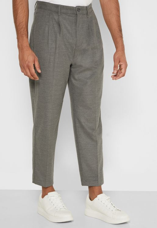 Twill Relaxed Trousers