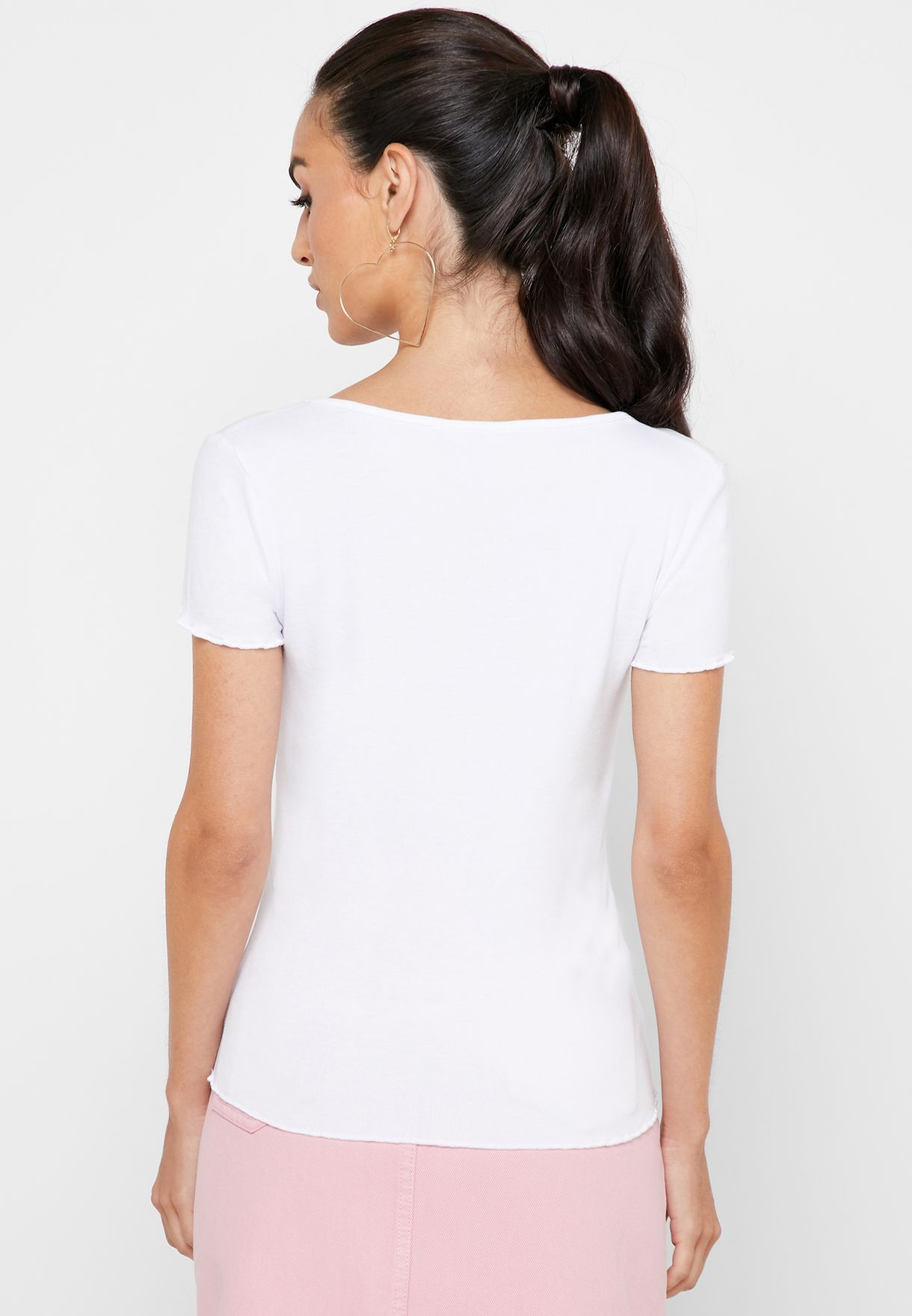 Lettuce Edge V-Neck T-Shirt