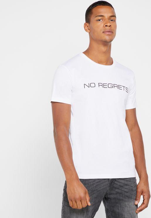 No Regrets Crew Neck T-Shirt