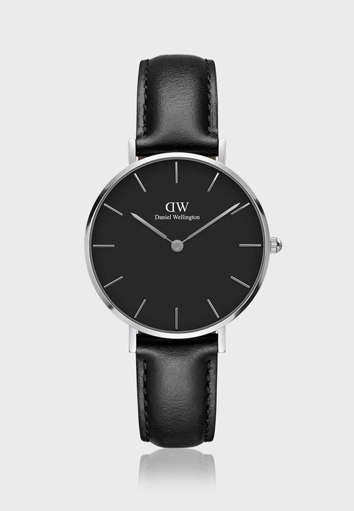 Petite Sheffield S Black 32mm Watch DW00100180