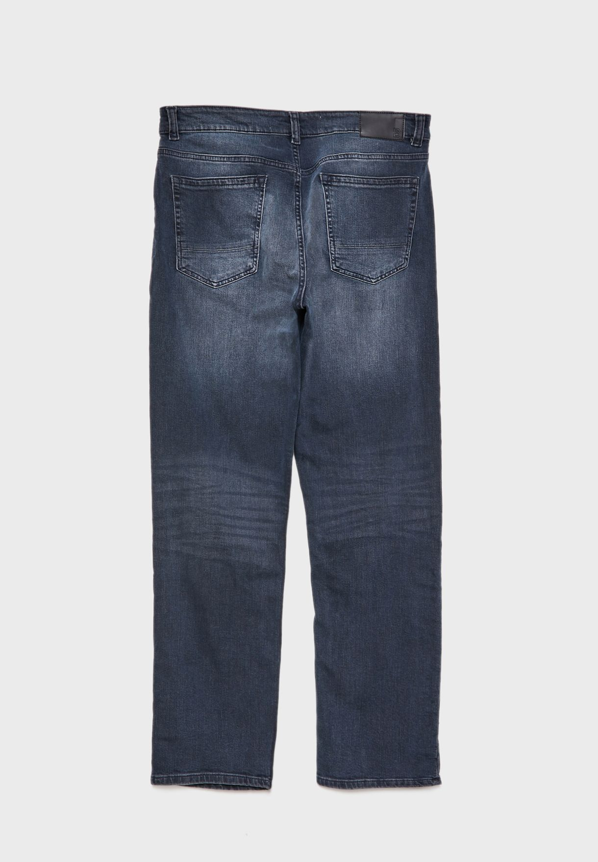Overdye Straight Fit Jeans