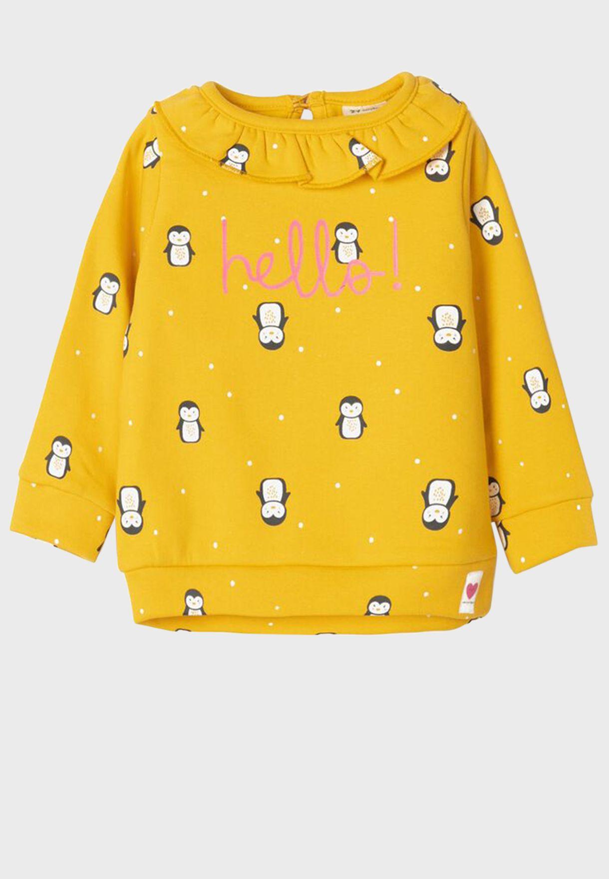 Infant Penguin Print Sweatshirt