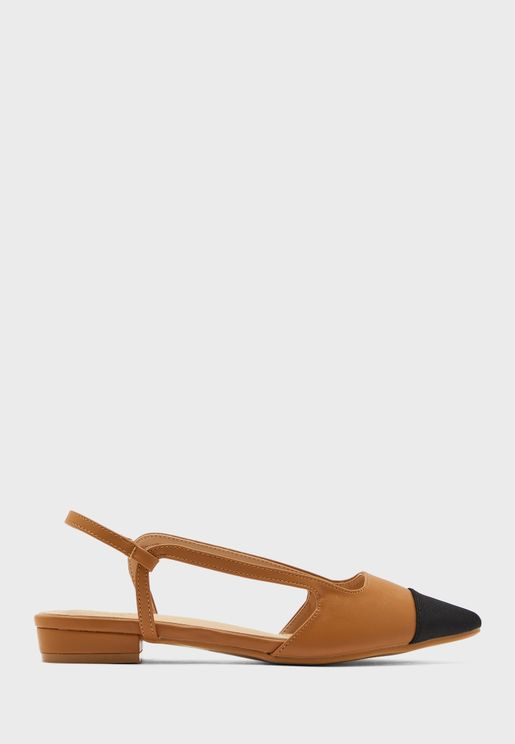 Colourblock Pointed Slingback Shoe