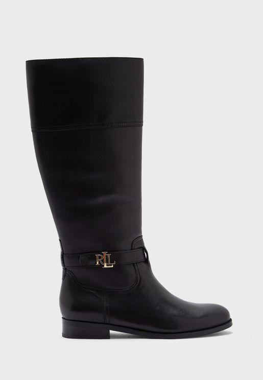 Brystol Knee Low Heel Boots