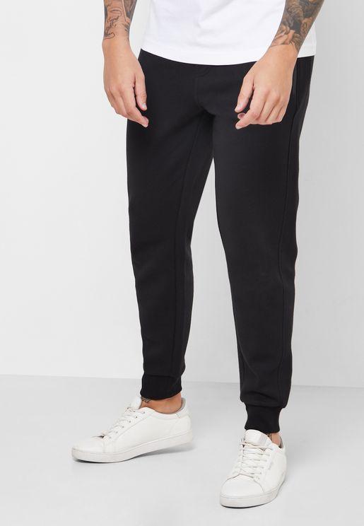 Mix Media Cuffed Sweatpants