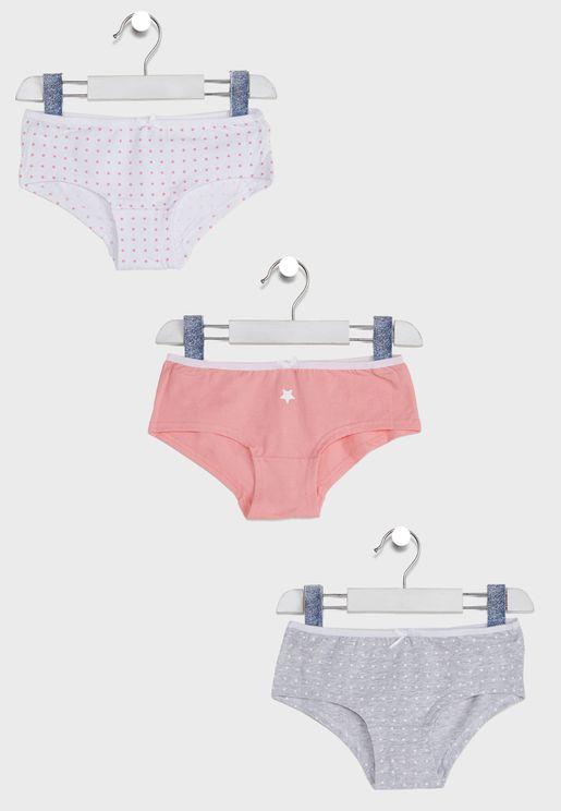 Kids Essential Underwear 3 Pack