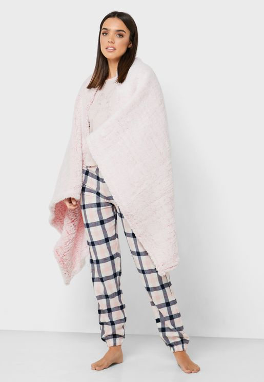 Pink Fluffy Throw