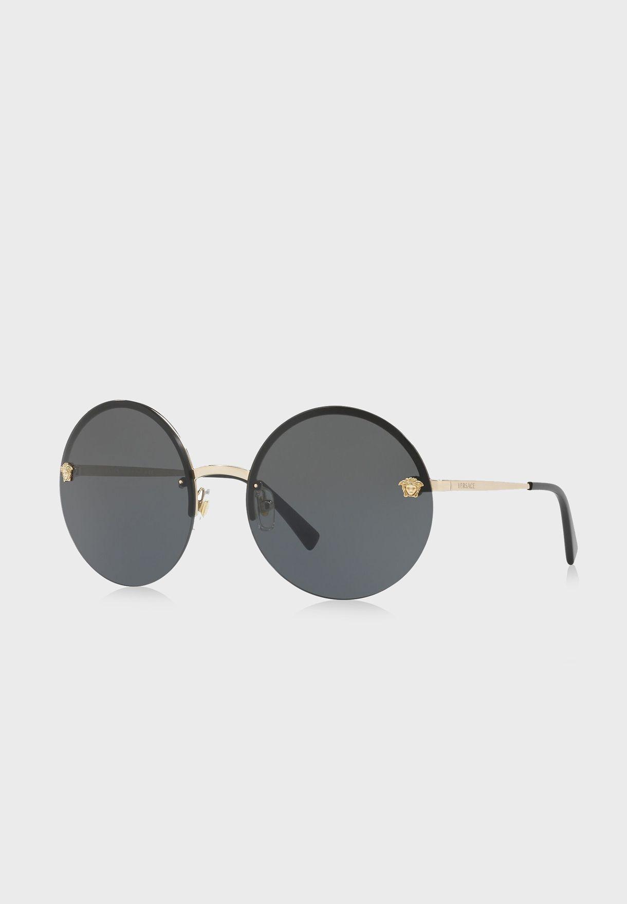 نظارة شمسية بإطار  دائري