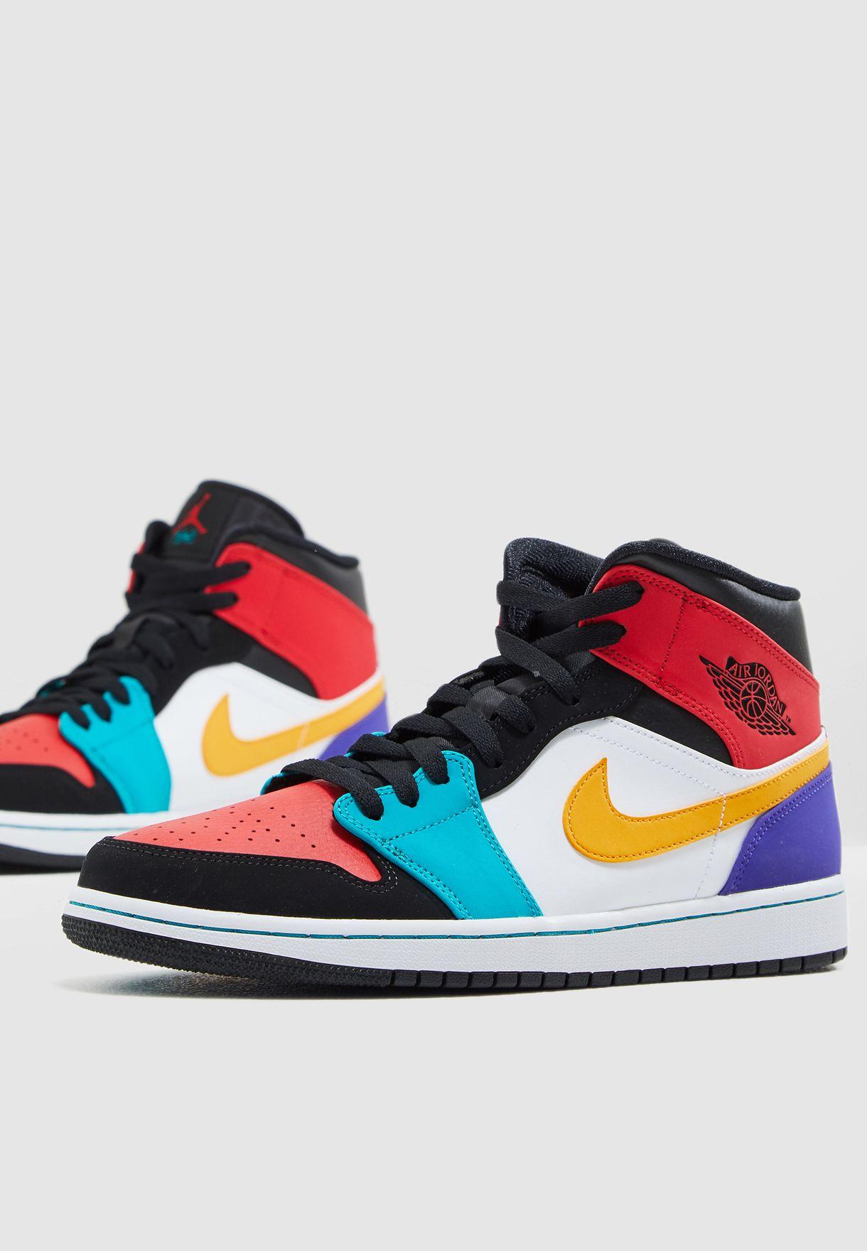 hot sale online 01e10 2c522 Shop Nike multicolor Air Jordan 1 Mid 554724-125 for Men in UAE -  72704SH61KAP