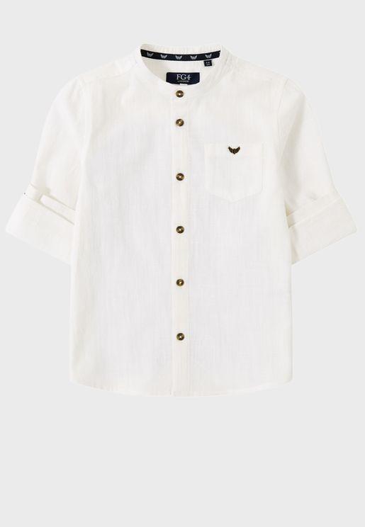Kids Calais Shirt White