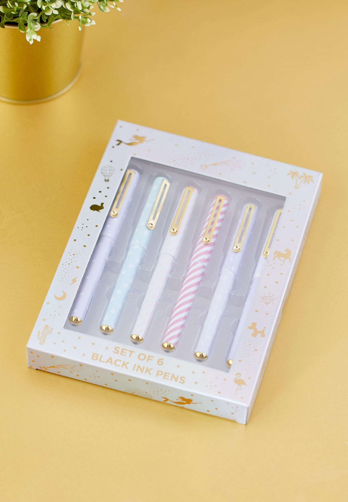 Set of 6 Decorated Pens