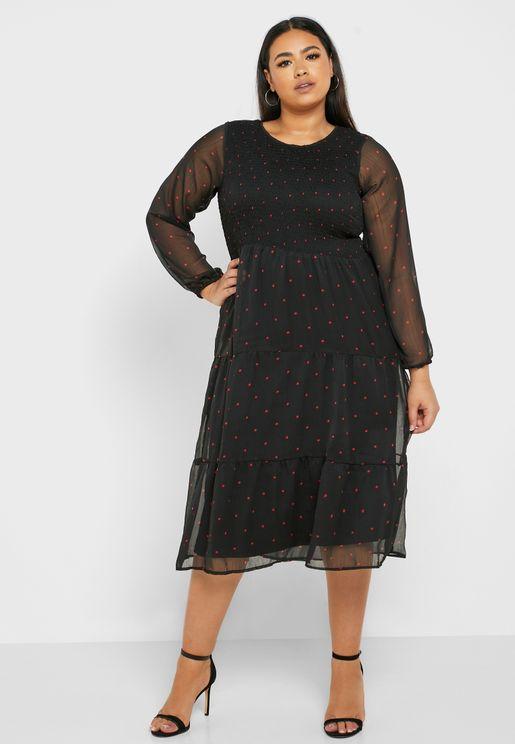 فستان مطبع بفتحة (كي هول)