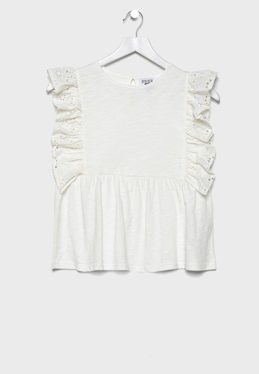 Kids Frill Sleeve Top