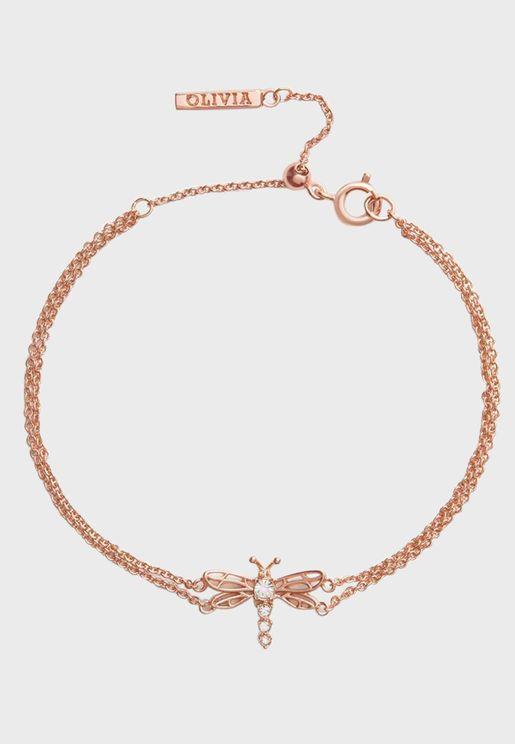 OBJAMB104 Dancing Dragonfly Chain Bracelet