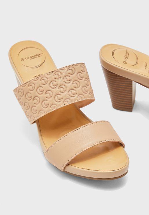 Double Strap High-Heel Sandals