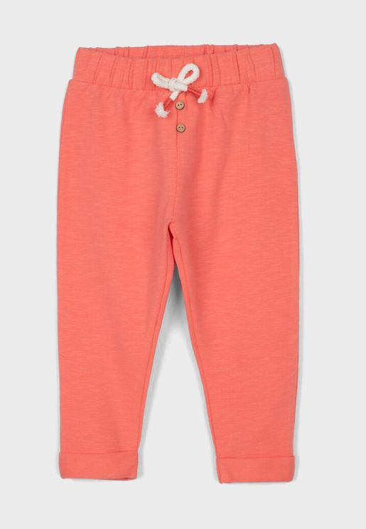 Infant Tie Waist Sweatpants