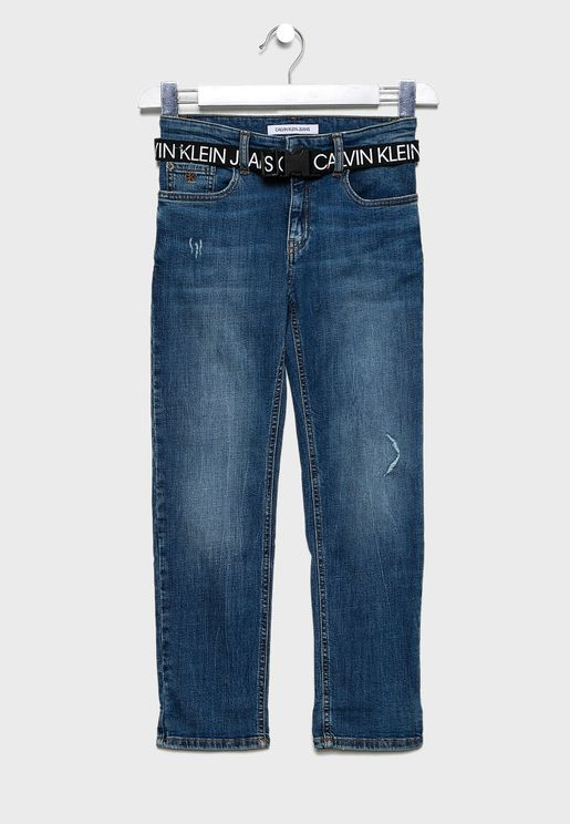Kids Straight Denim Jeans