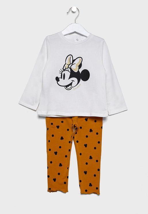 Infant Mini Mouse Print Pyjama Set