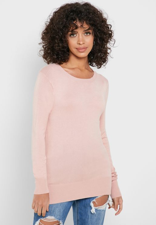 O-Neck Long Sleeve Sweater