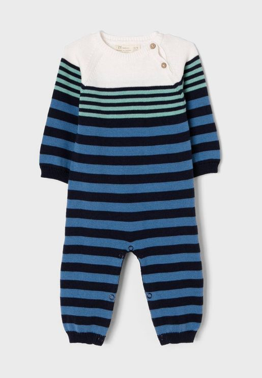Infant Striped Knitted Bodysuit