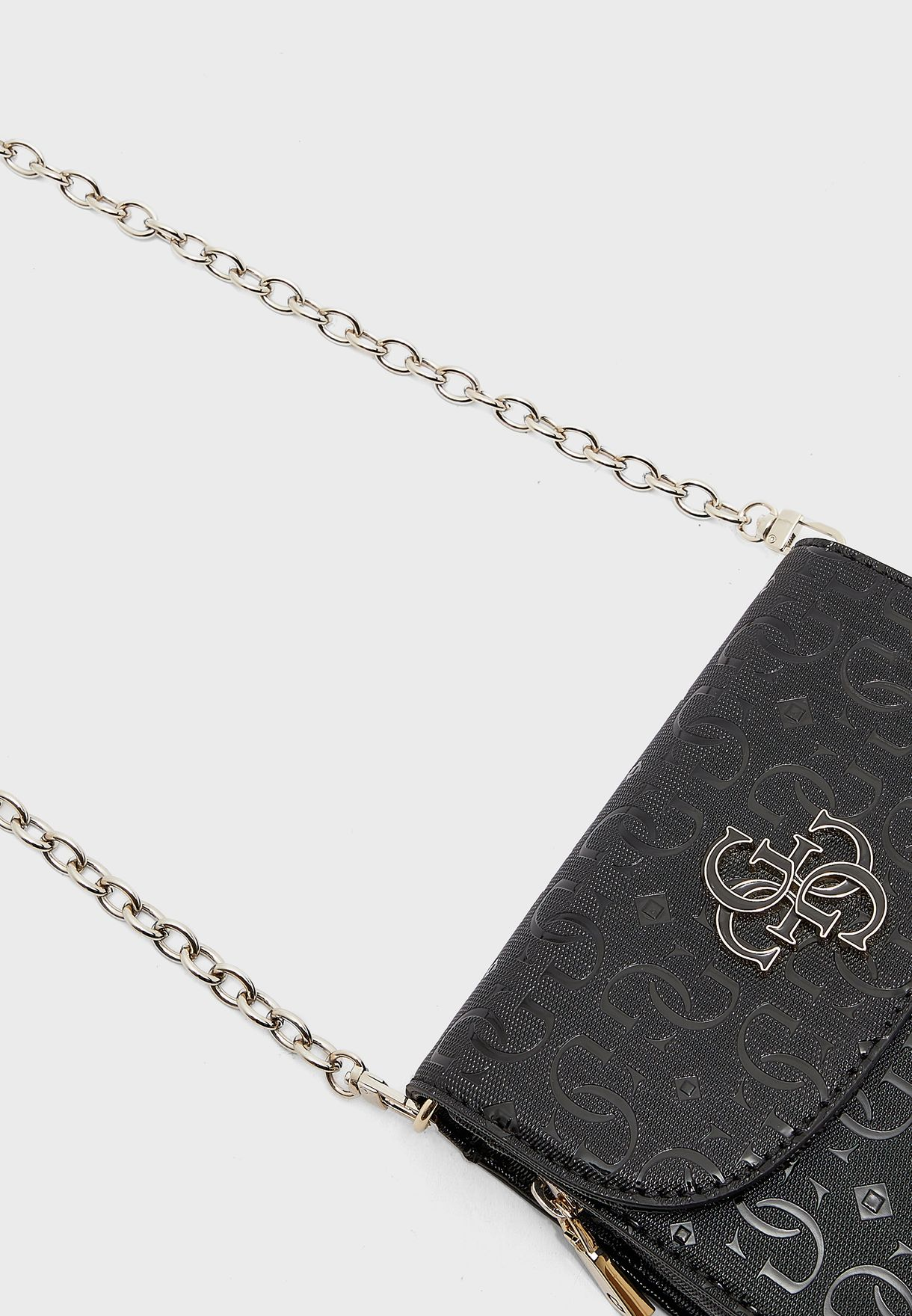 Chic Shine Mini Flap Over Crossbody