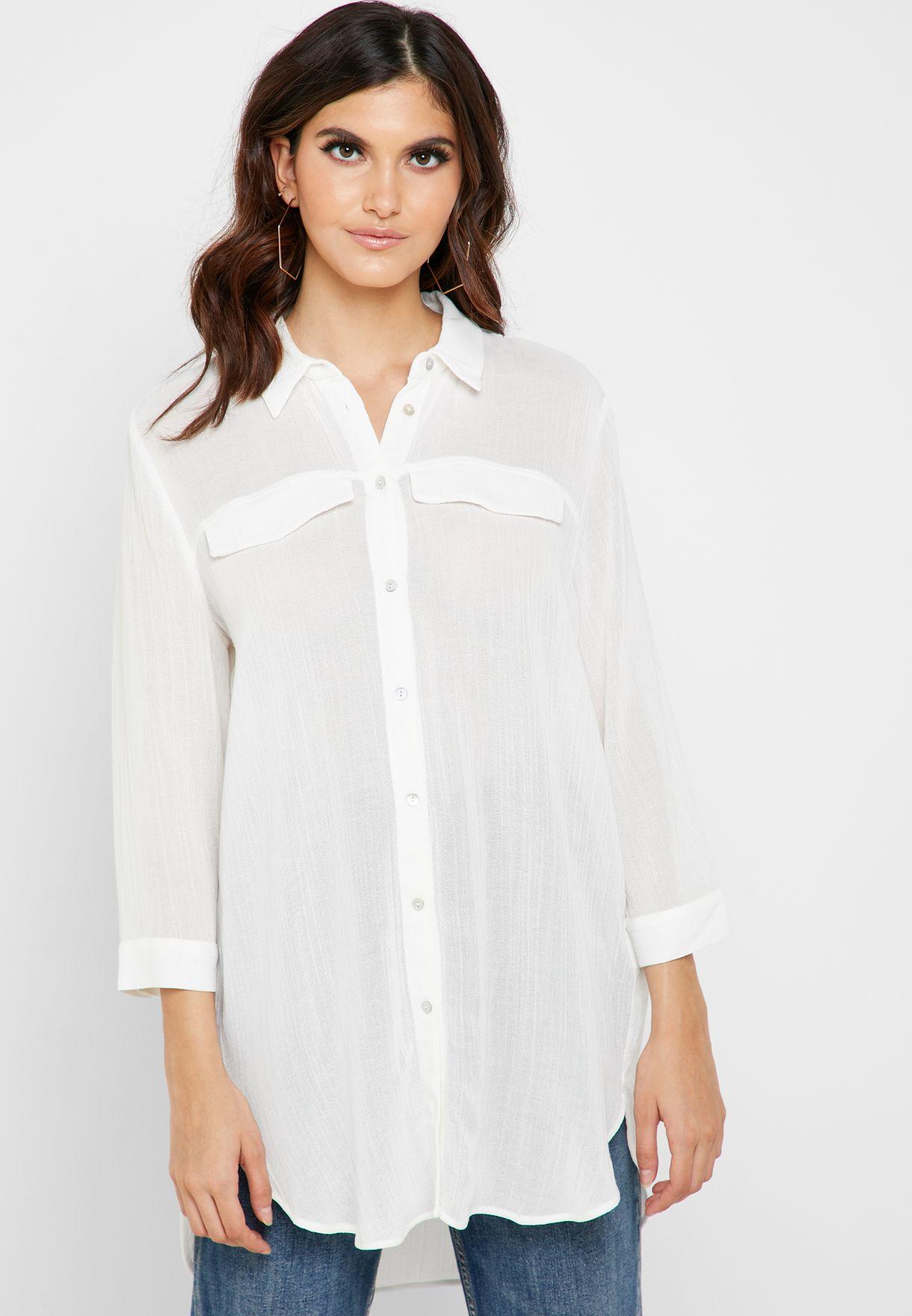 Longline Viscose Shirt