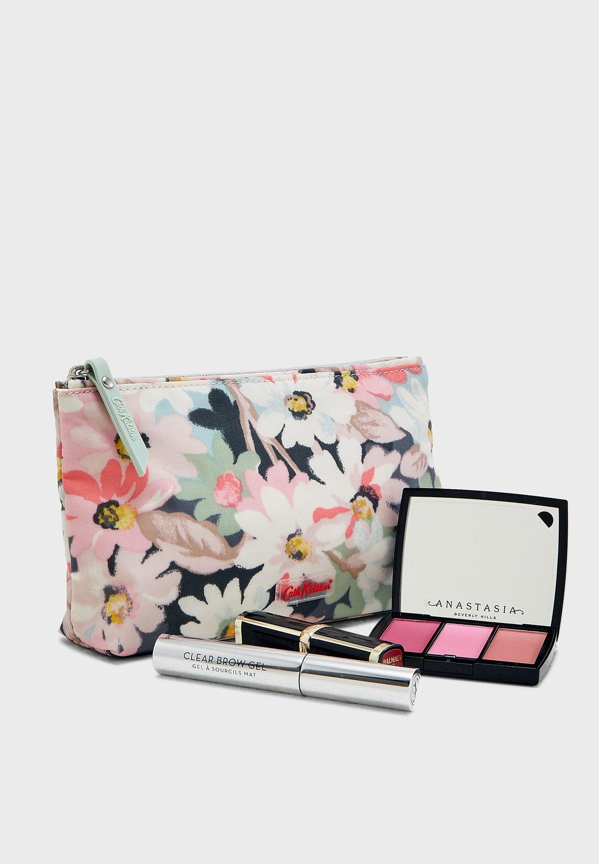 Floral Zip Make Up Bag