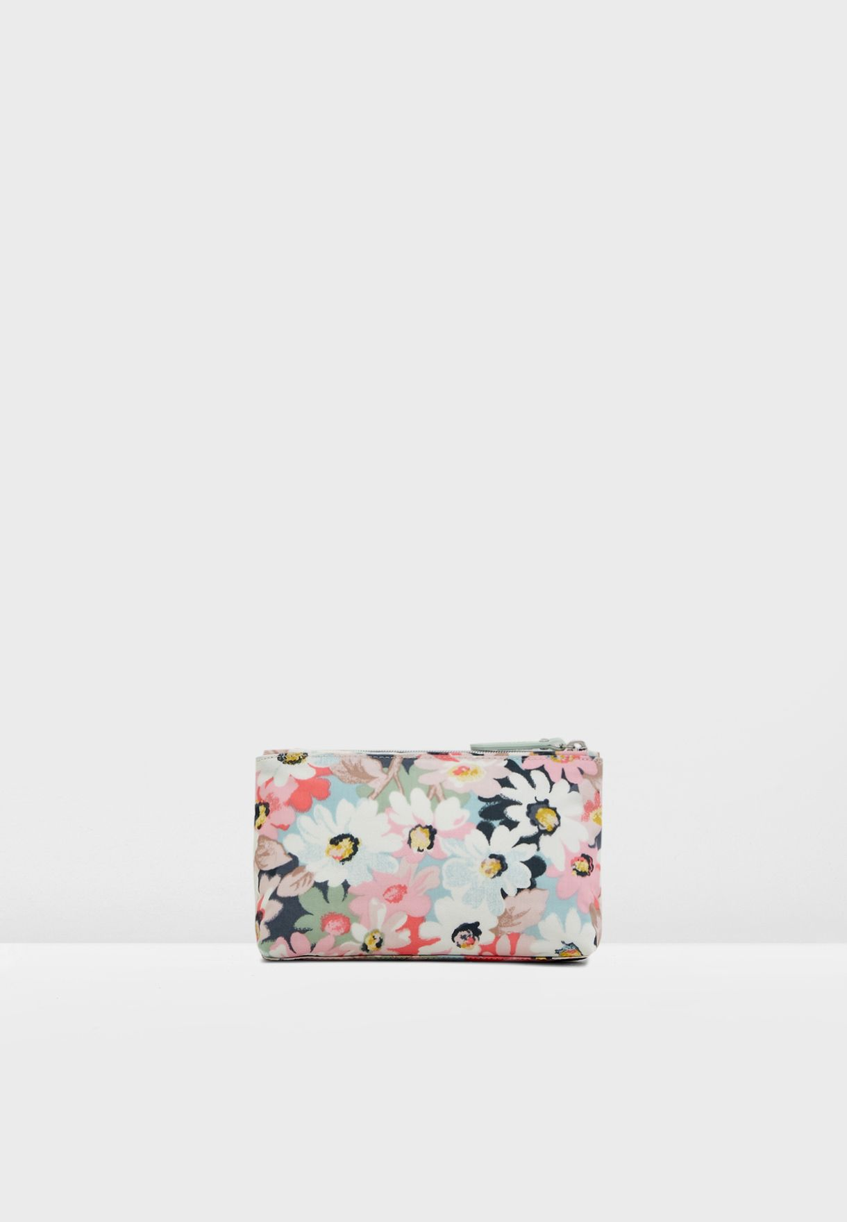 Floral Zip Make Up Bag