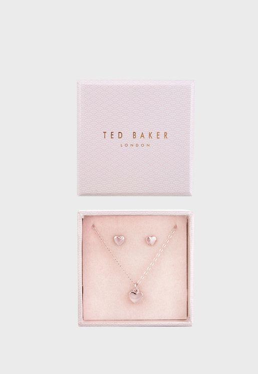 Amoria Sweetheart Necklace+Earrings Set