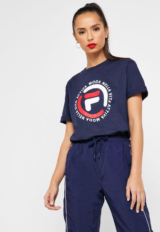 Flore Logo Boyfriend T-Shirt