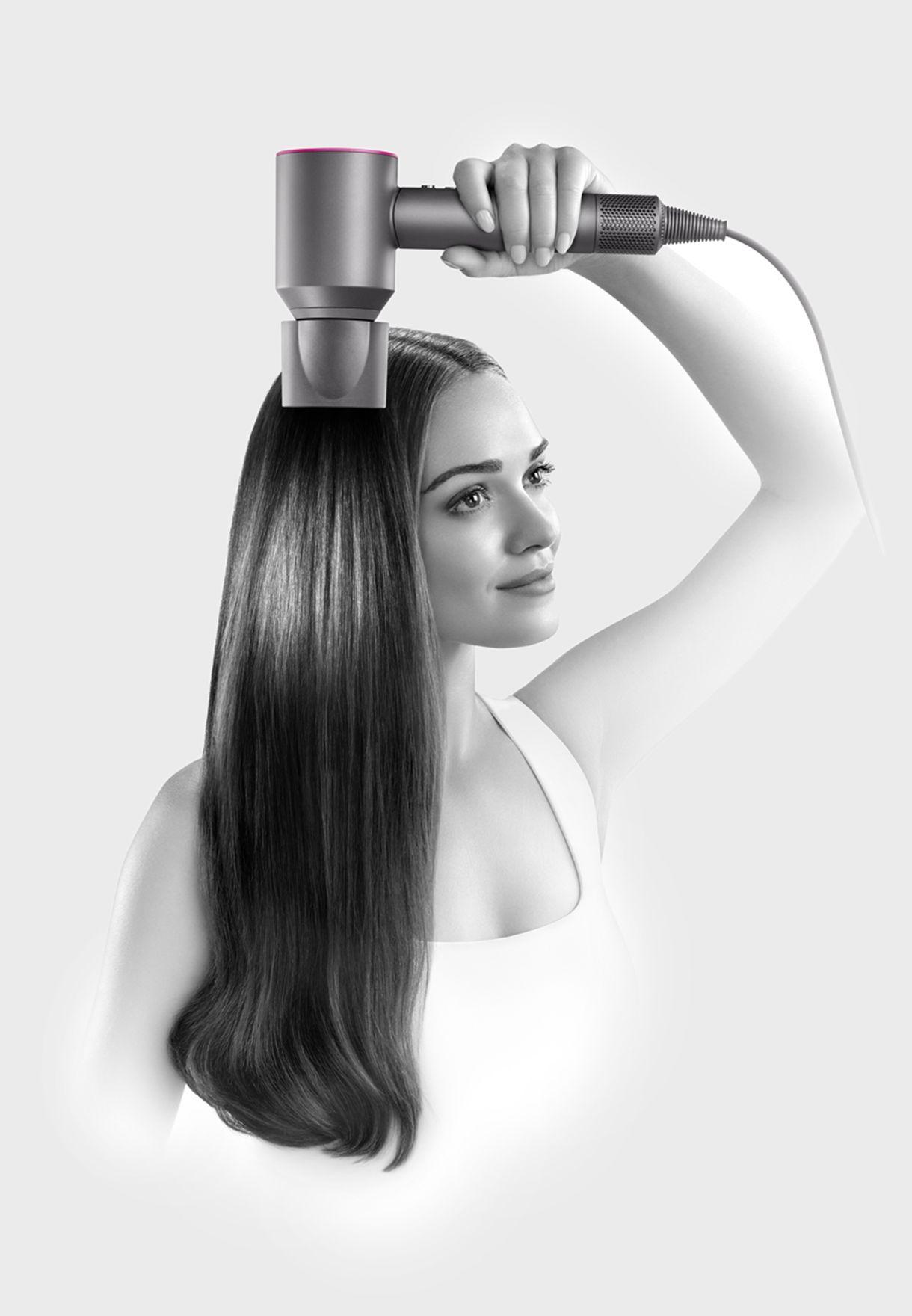 مجفف شعر سوبر سونيك + ملحق اضافي - وردي معدني