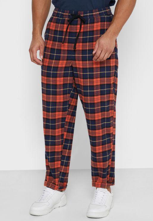 Flannel Check Sweatpants