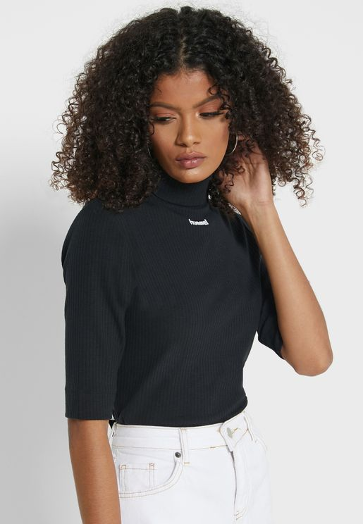 Caroline Turtleneck Ribbed T-Shirt
