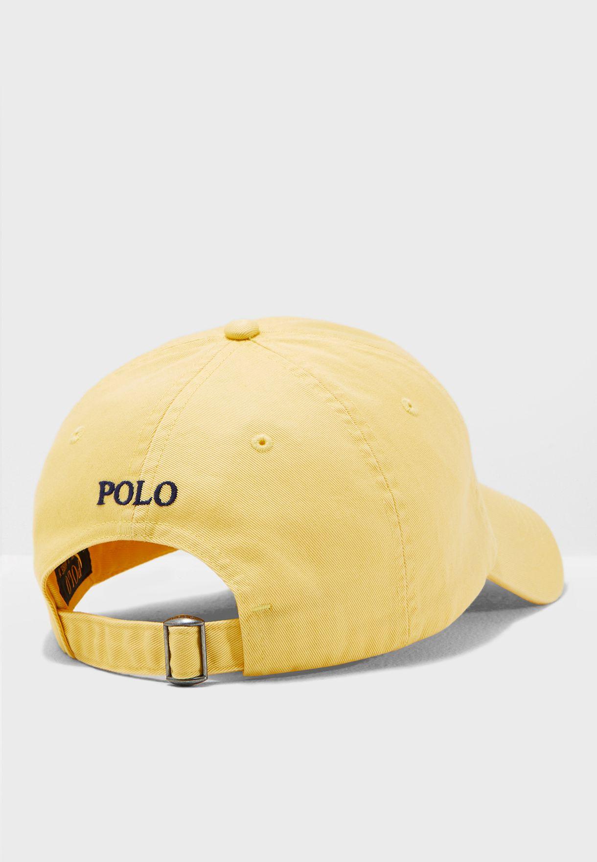 3036e011199 Shop Polo Ralph Lauren yellow Cotton Chino Baseball Cap ...