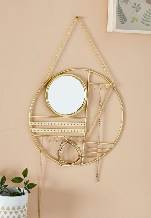 Abstract Jewellery Hanger With Mirror