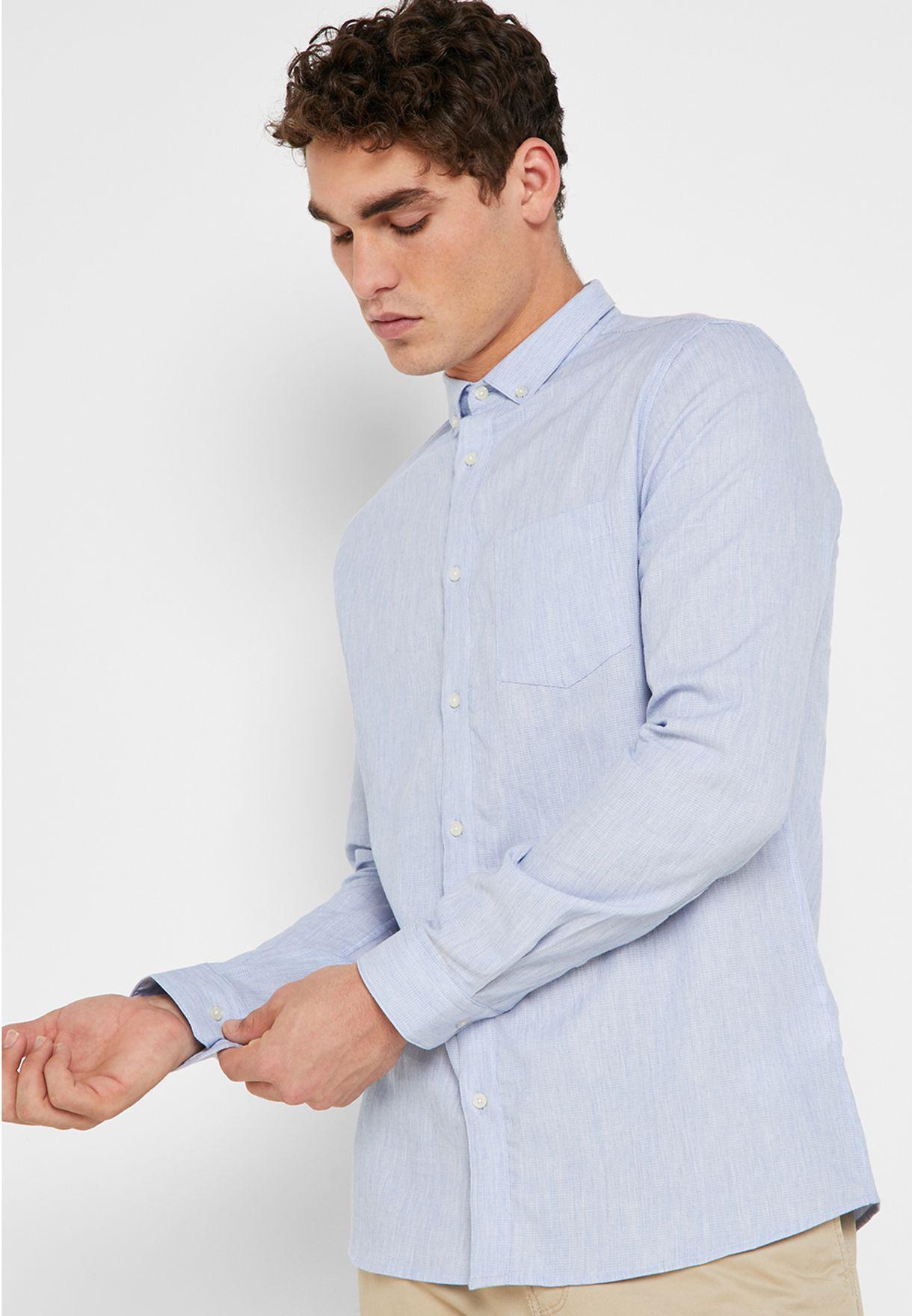 b05e5607874 Shop Burton blue Oxford Shirt 22T01OBLU for Men in UAE - 18832AT61DQP