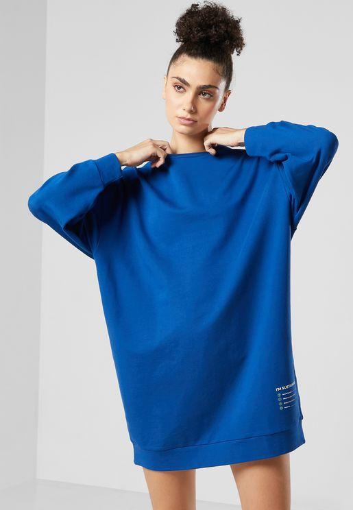FRWD Sustainable Oversized Sweat Dress