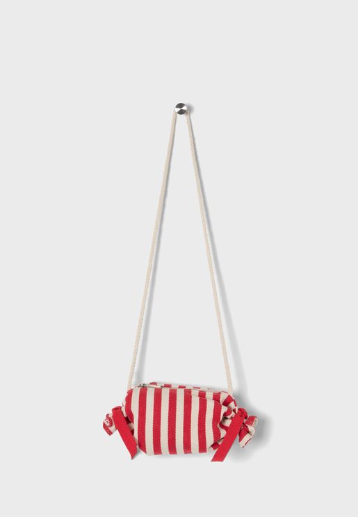 Kids Striped Crossbody