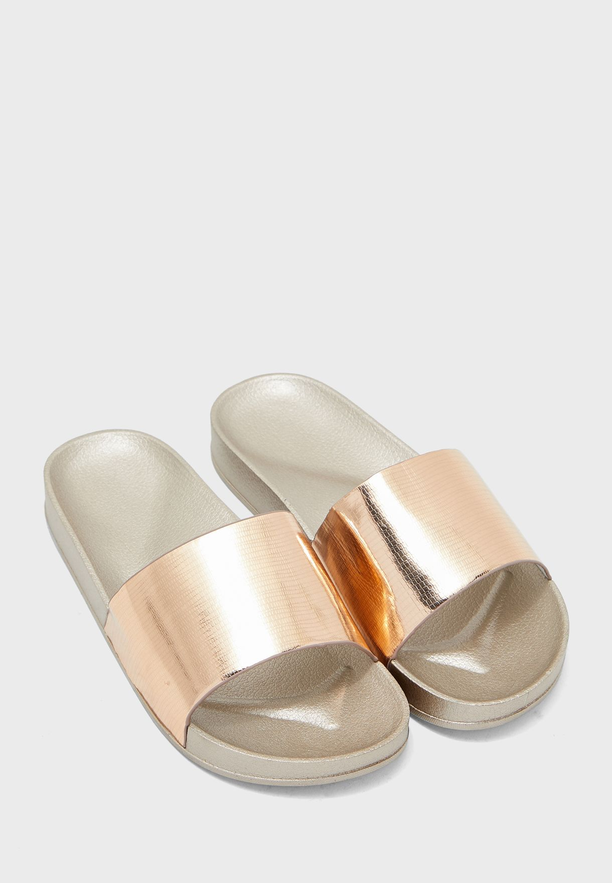 Metallic Pool Slides