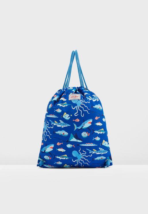 Kids Printed Drawstring Bag