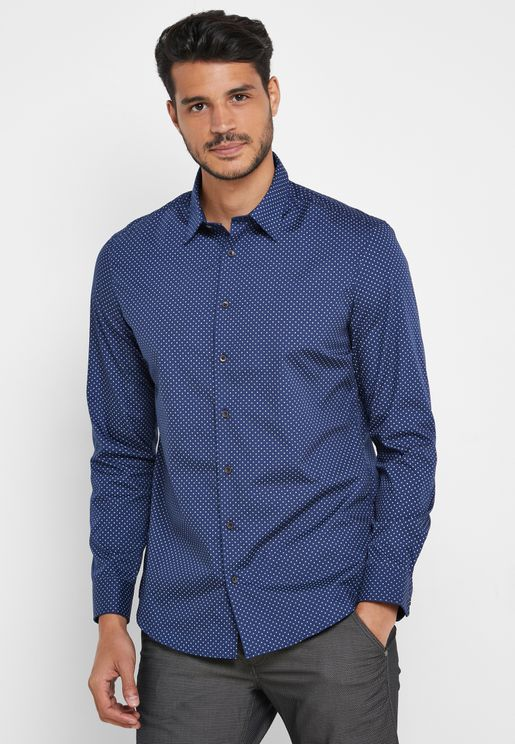 AOP Slim Fit Tailored Shirt