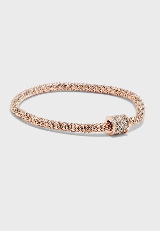 Rose Barrel Mesh Bracelet