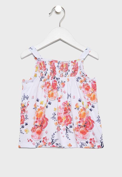 Kids Floral Print Top