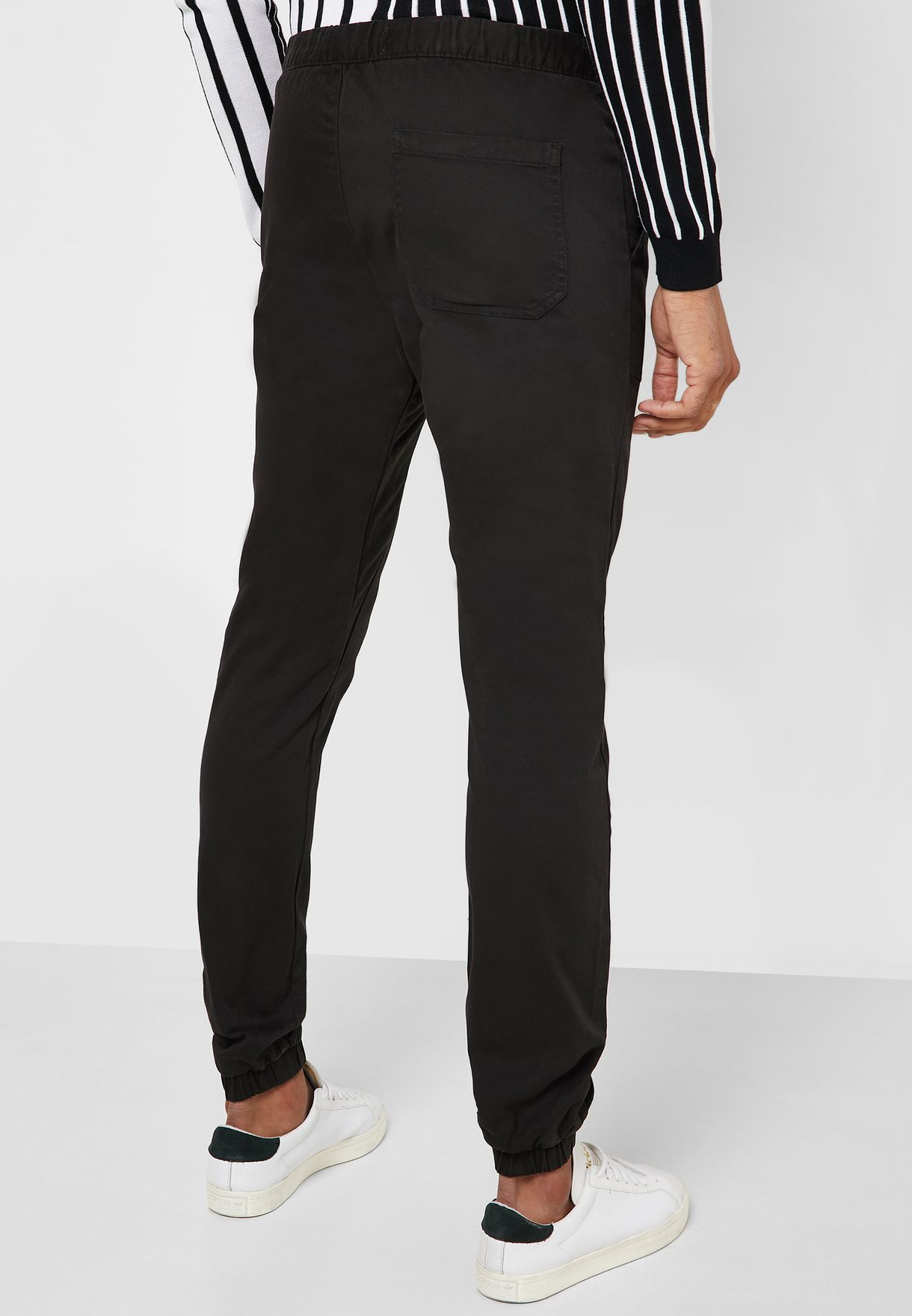Buttoned Skinny Joggers