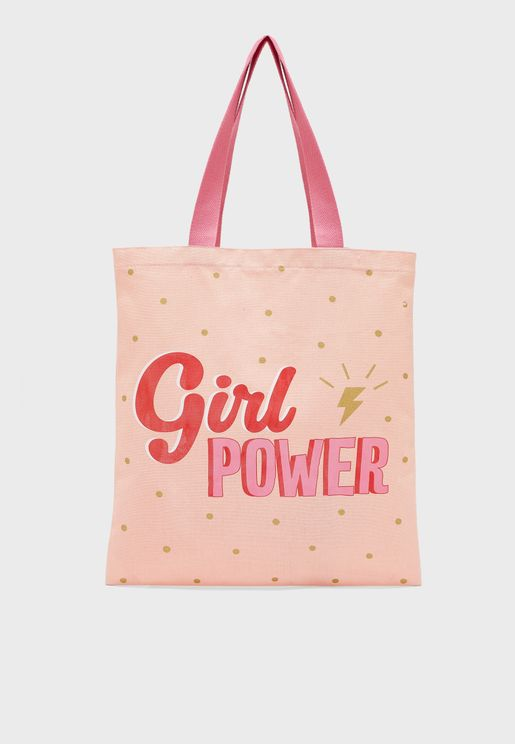 Kids Girl Power Tote Bag