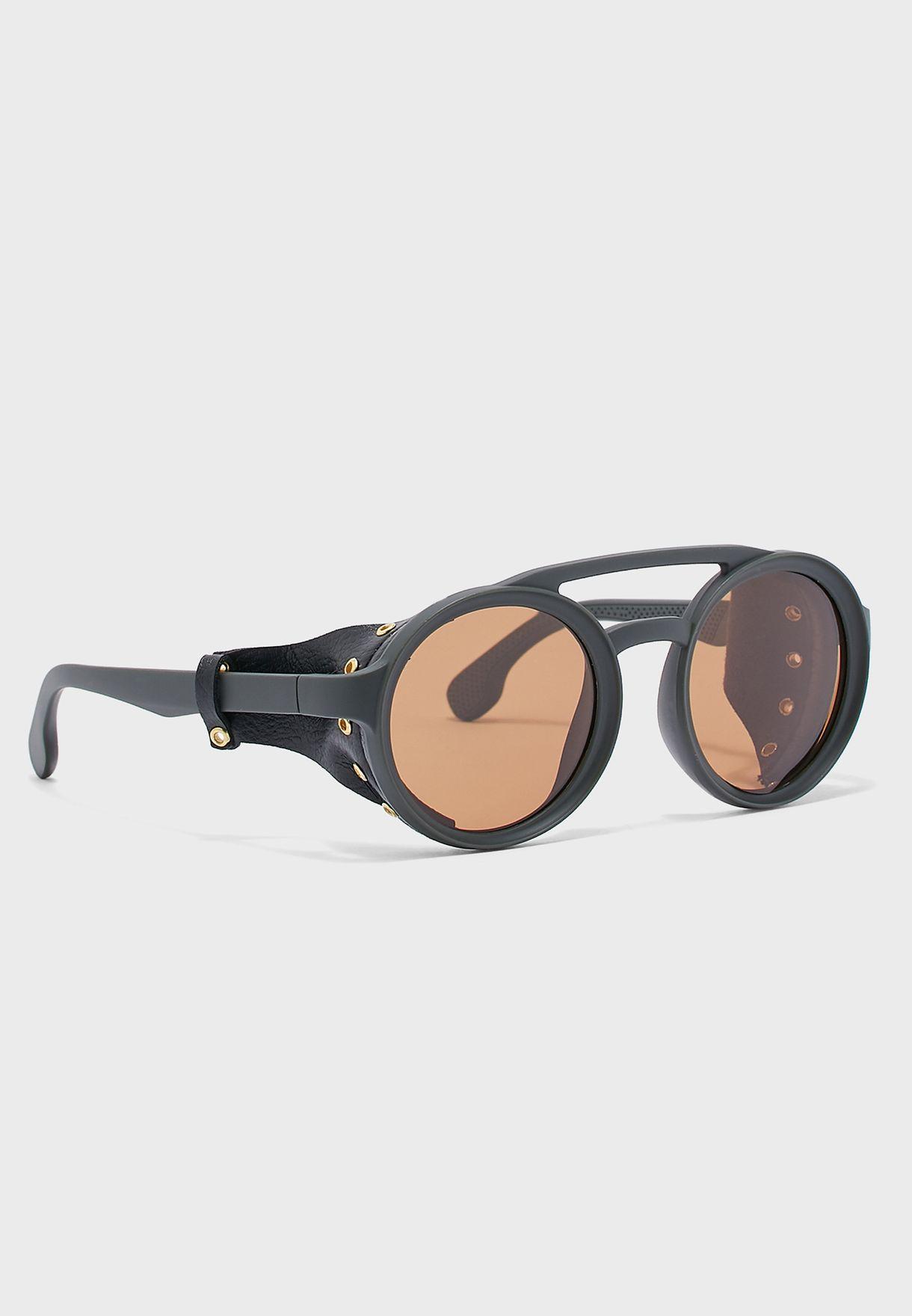 e9690448d Shop Seventy five yellow Steampunk Summer Round Sunglasses SS19705 ...