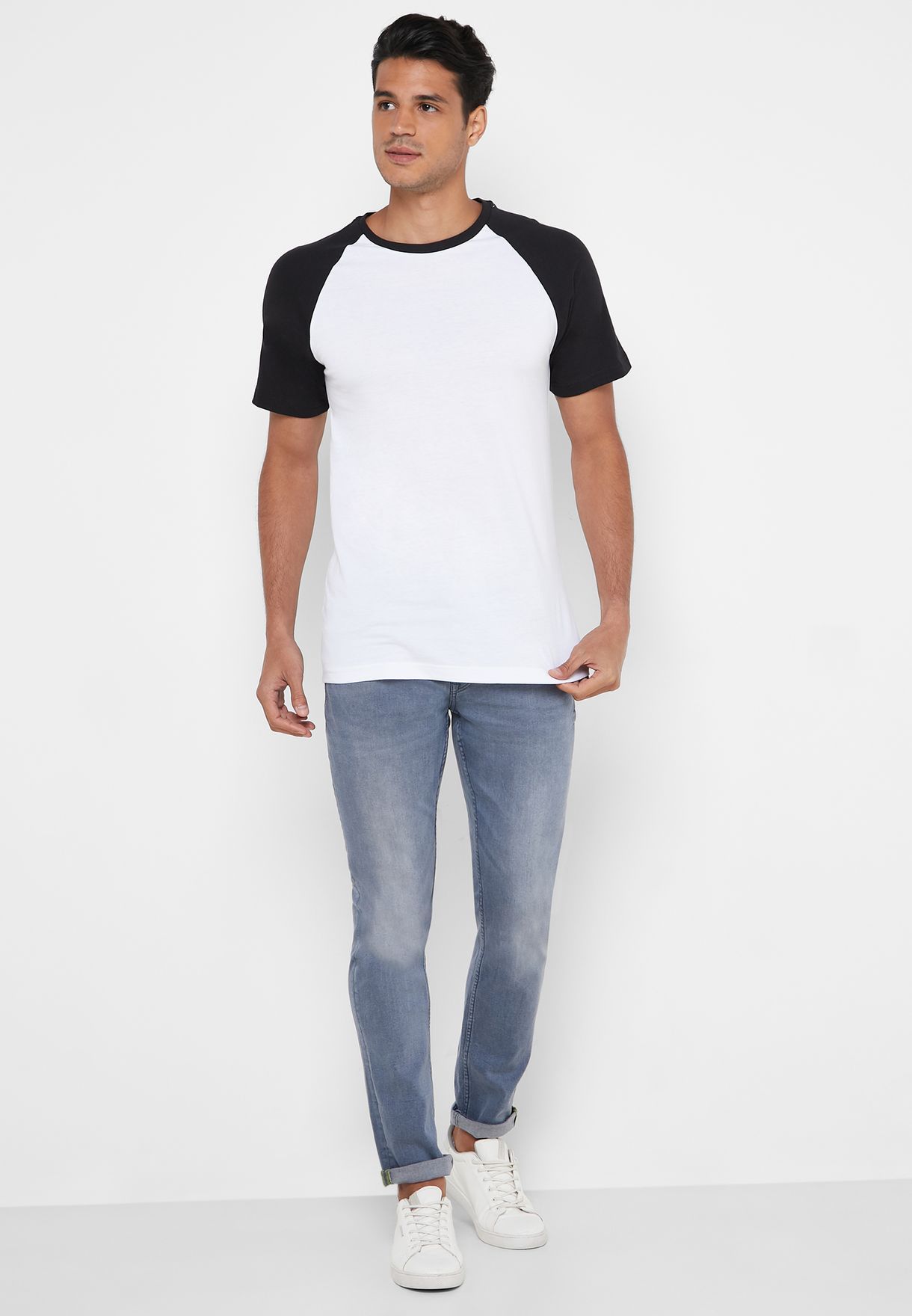 Raglan Crew Neck T-Shirt