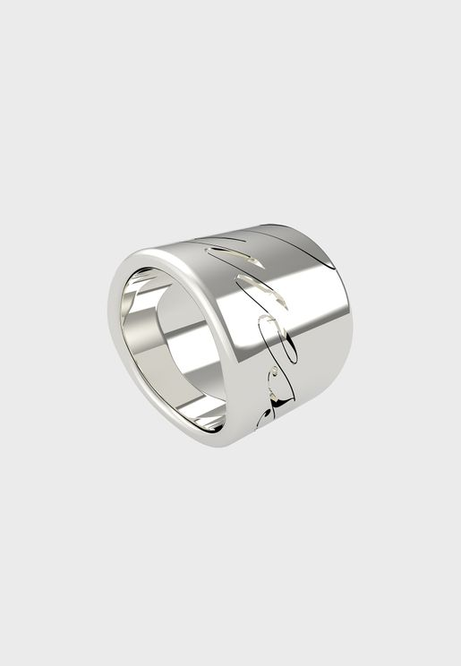 Logo Engraved Band Ring